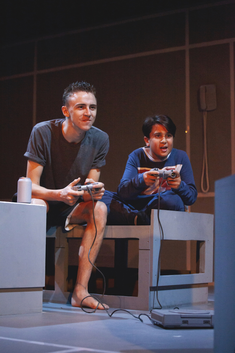 Scott Folan and Hari Aggarwal in Mother of Him at the Park Theatre