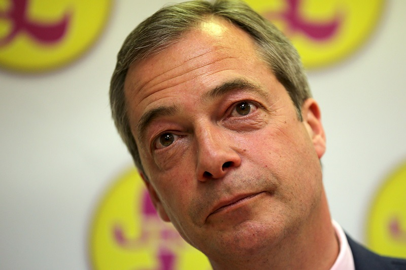 Nigel Farage is an increasingly distant, sinister figure  © London Evening Standard