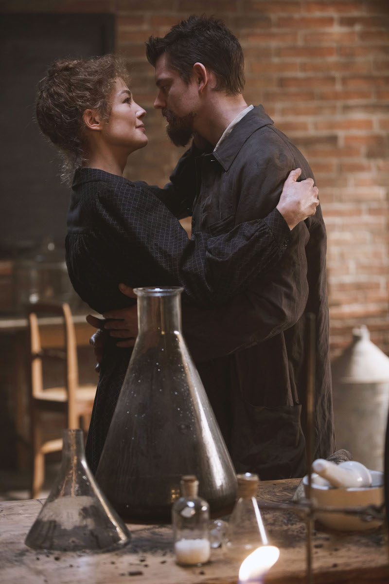Rosamund Pike and Sam Riley as Marie and Pierre Curie in Radioactive