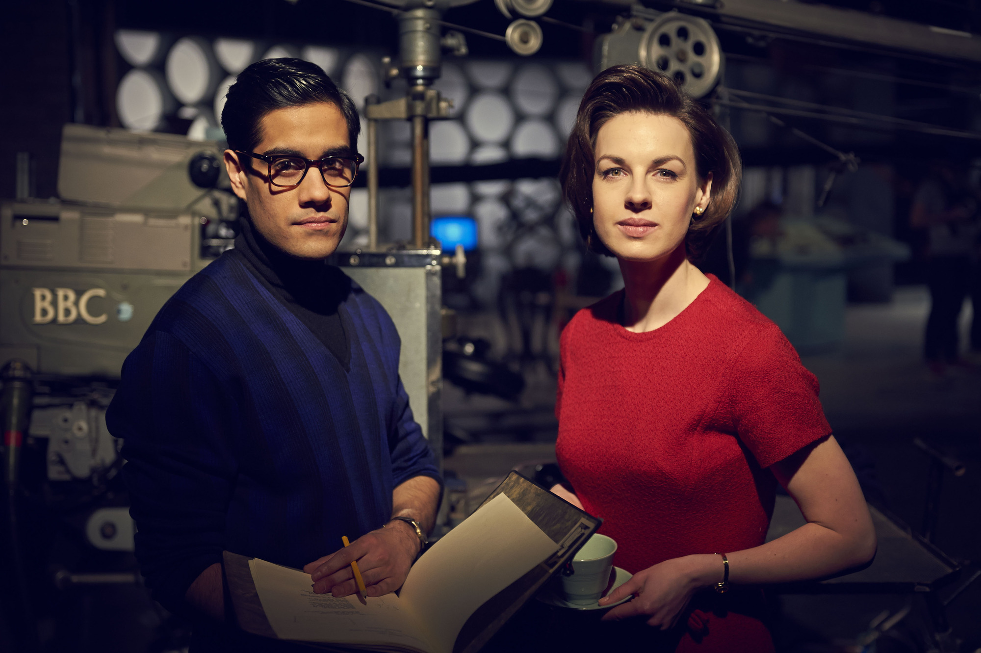 Sacha Dirwan and Jessica Raine in An Adventure in Space and Time