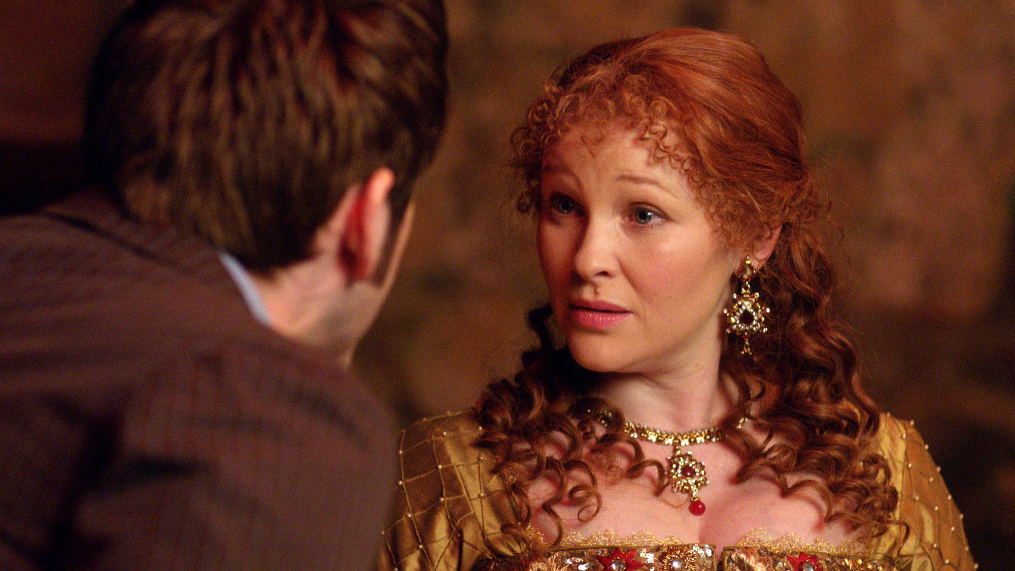 The Doctor (David Tennant) and Elizabeth I (Joanna Page) in The Day of the Doctor
