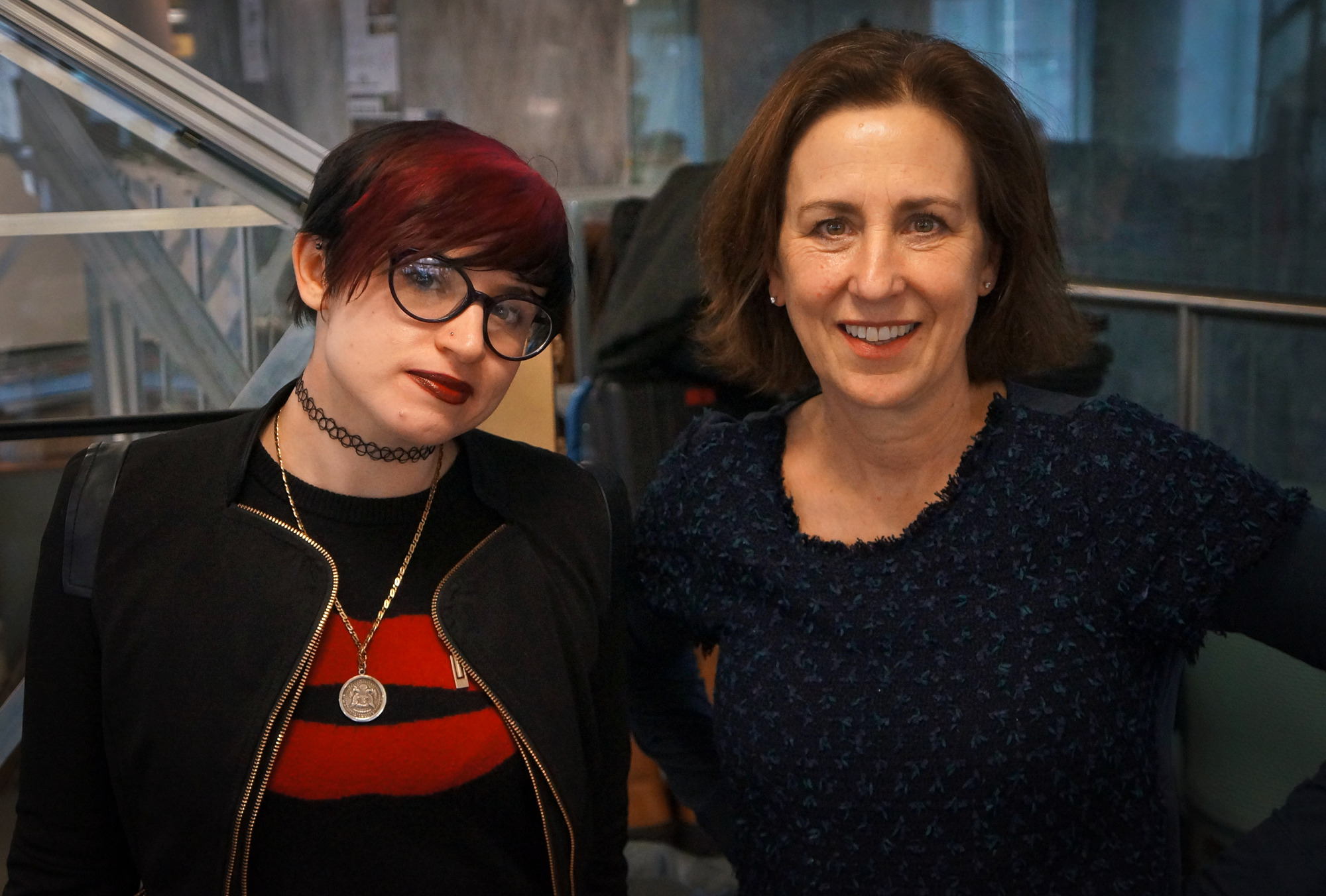 Laurie Penny (left) and Kirsty Wark in Blurred Lines: The New Battle of the Sexes