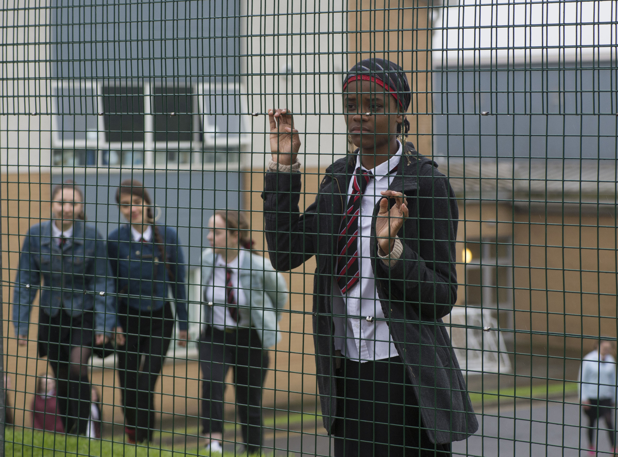 Letitia Wright as Amal in BBC Three's Glasgow Girls