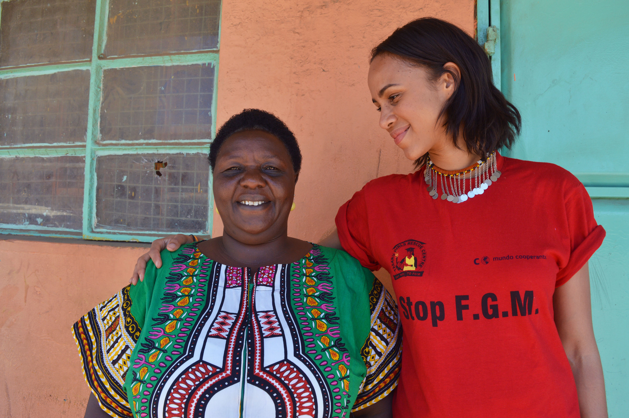 Agnes Pareyio (left) and Zawe Ashton in Stop Cutting Our Girls