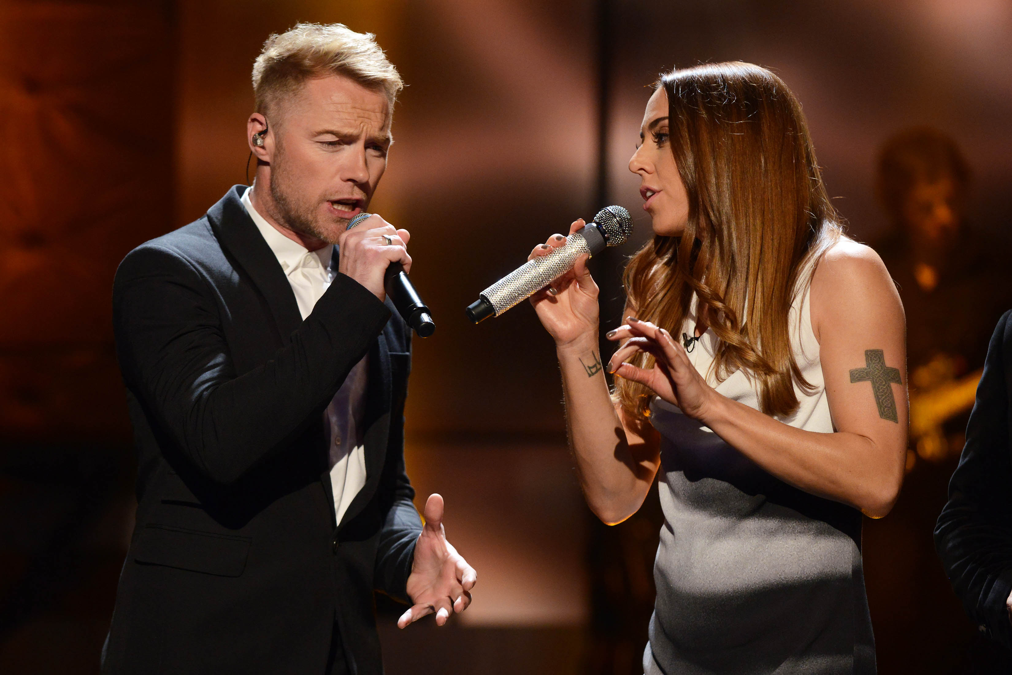Ronan Keating and Melanie C