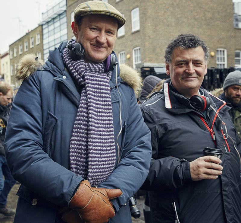 Mark Gatiss and Steven Moffat, writers of Sherlock