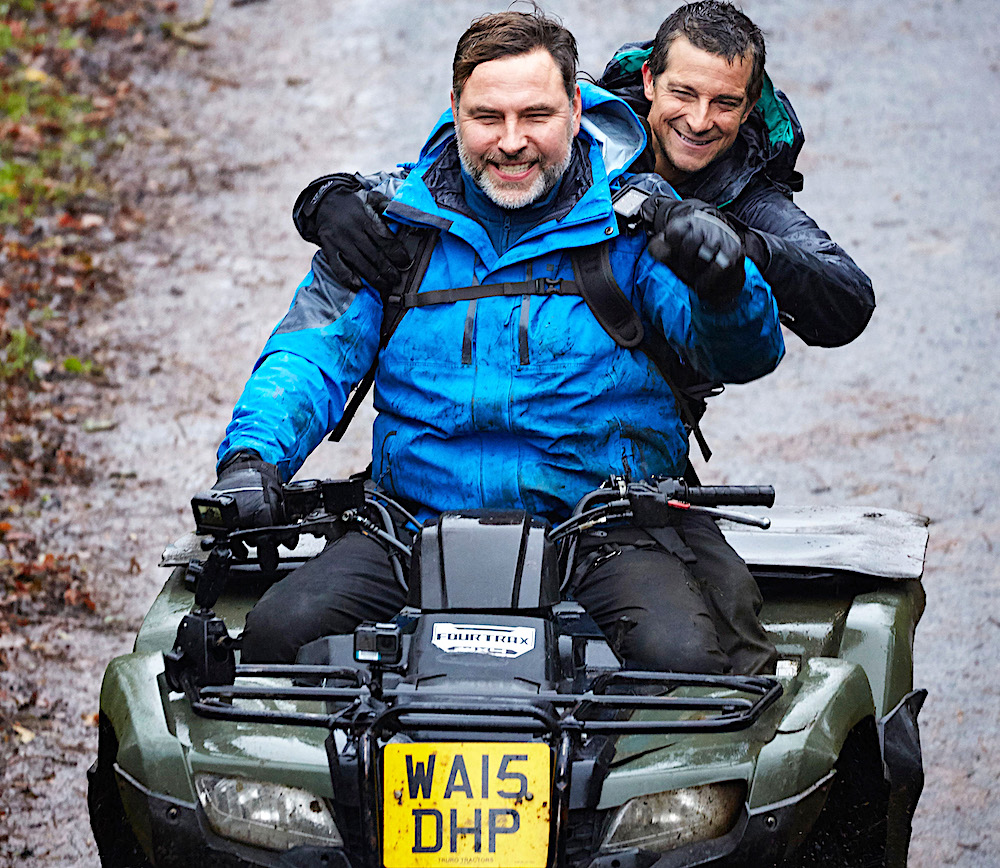 Bear Grylls and David Walliams
