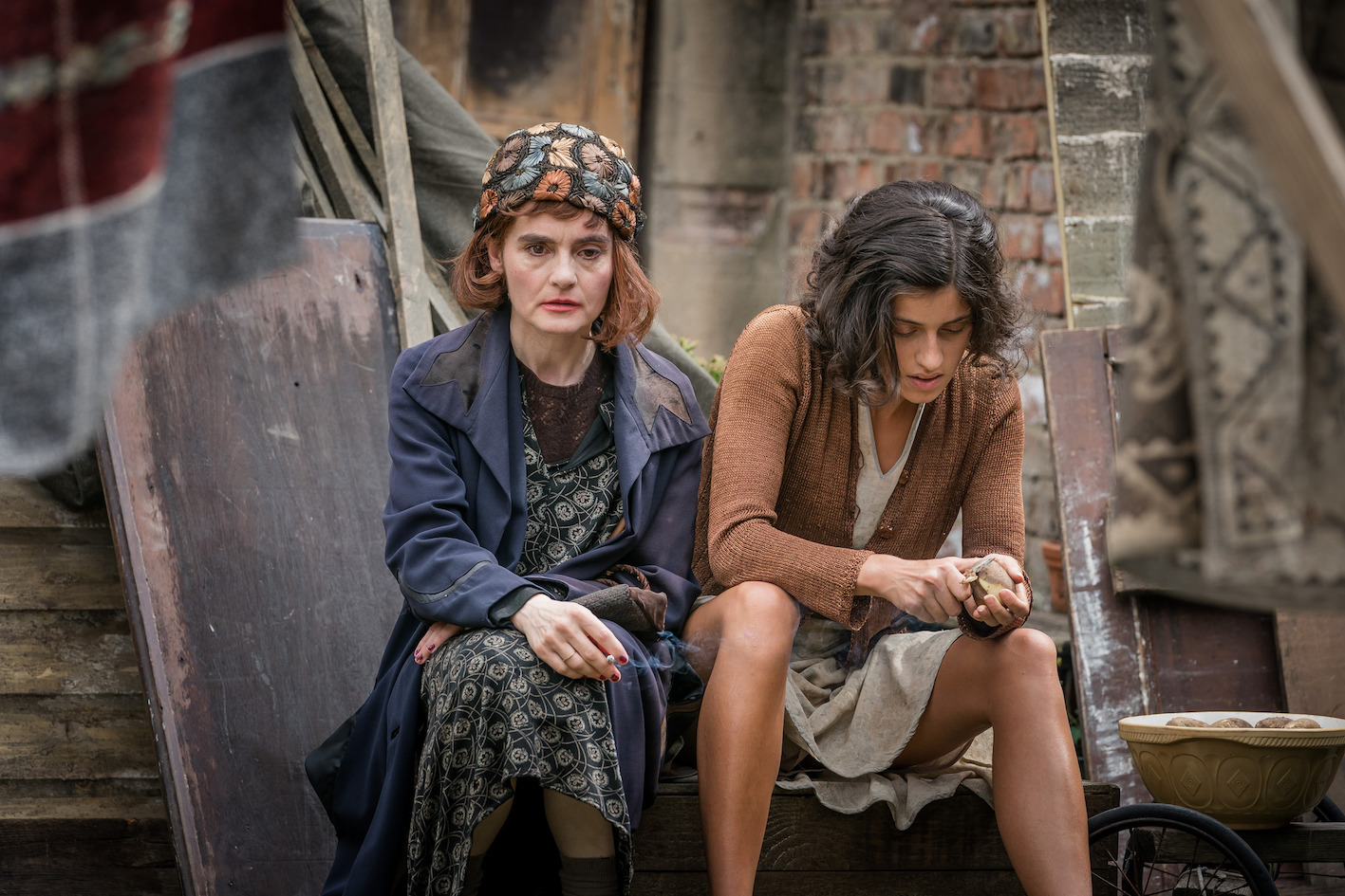 Shirley Henderson and Anya Chalotra in The ABC Murders