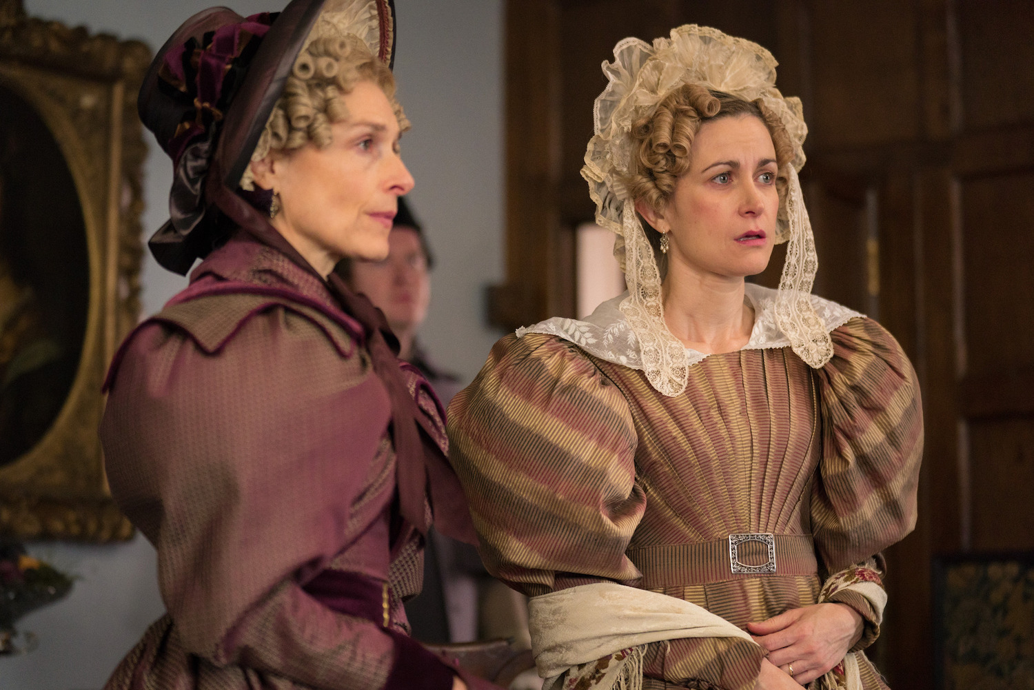 Amelia Bullmore and Katherine Kelly in Gentleman Jack