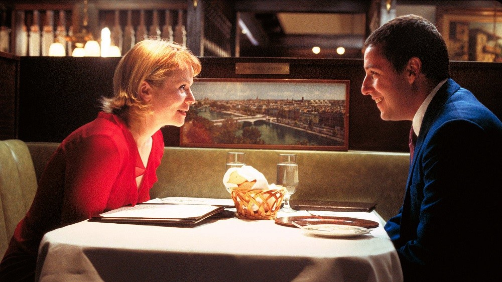 Emily Watson and Adam Sandler in Punch Drunk Love