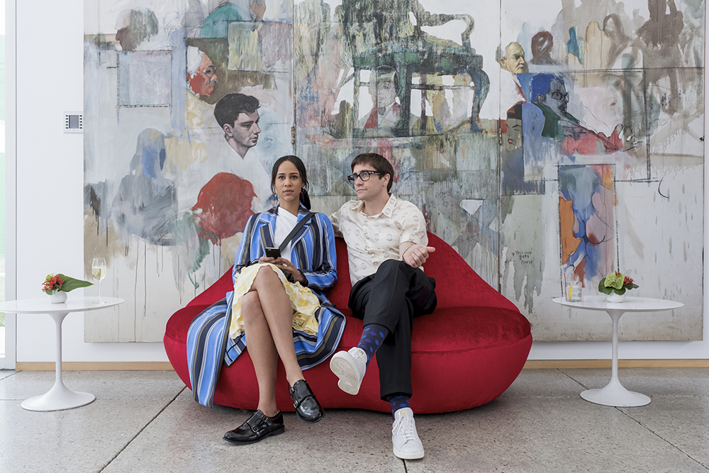 Jake Gyllenhaal and Zawe Ashton in Velvet Buzzsaw