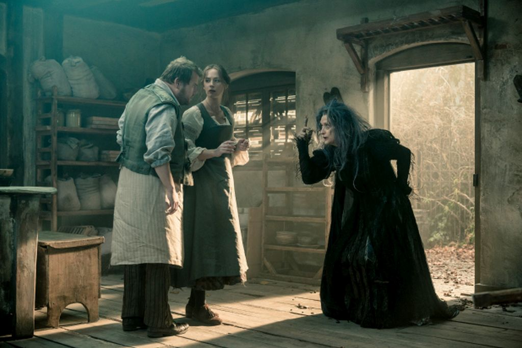 Meryl Streep (right) onscreen in Into the Woods