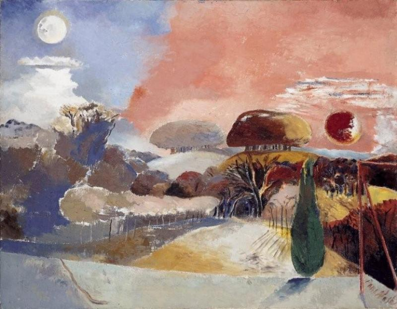 Landscape of the Vernal Equinox( 1943) by Paul Nash