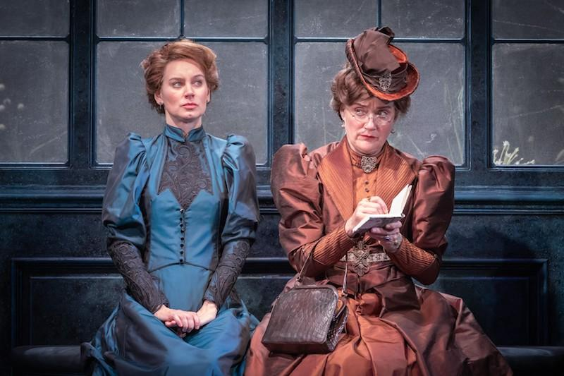The Importance Of Being Earnest Vaudeville Theatre Review Sophie Thompson Triumphantly Tackles Handbag Challenge