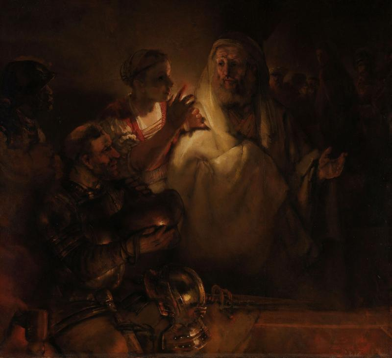 Rembrandt, 'The Denial of St Peter', The Denial of St Peter, 1660 (c) Rijksmuseum