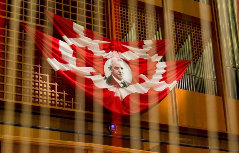 17cae3fc08a65 Nielsen flagged on the organ of Odense's concert hallKnud Erik Jørgensen/ Odense Symphony Orchestra